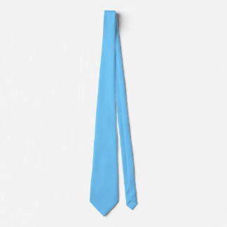 Sky Blue Double Sided Solid Color Tie