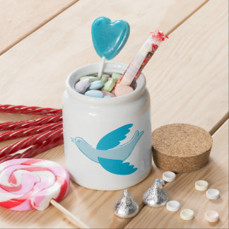 Sky Blue Dove Candy Jars