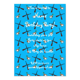 Sky blue duck hunting pattern 5x7 paper invitation card