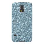 Sky Blue Faux Glitter Galaxy S5 Cover