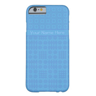 Sky Blue Faux Welsh Tapestry Pattern Barely There iPhone 6 Case