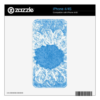 sky blue flower decals for iPhone 4S