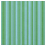 [ Thumbnail: Sky Blue & Forest Green Colored Pattern Fabric ]