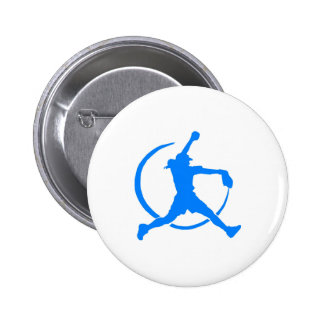 """Sky Blue Girl's """"FAST PITCH SOFTBALL"""" image Button"""