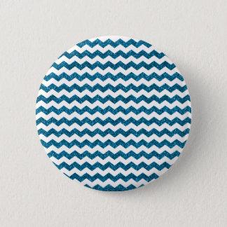 Sky blue glitter chevrons button