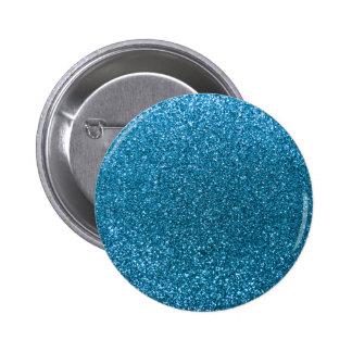 Sky blue glitter pinback button