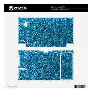 Sky blue glitter nintendo DSi skins