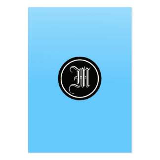 Sky Blue Gothic Large Business Card