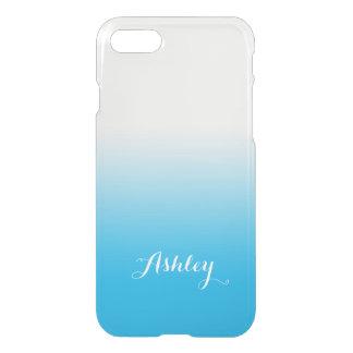 Sky Blue Gradient Ombre Watercolor Transparent iPhone 7 Case