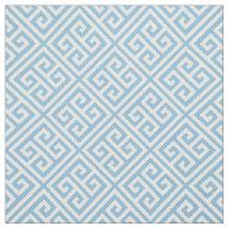 Sky Blue Greek Key Fabric