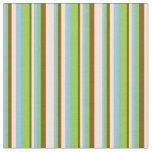 [ Thumbnail: Sky Blue, Green, Brown, and Mint Cream Colored Fabric ]