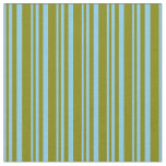 [ Thumbnail: Sky Blue & Green Colored Pattern Fabric ]