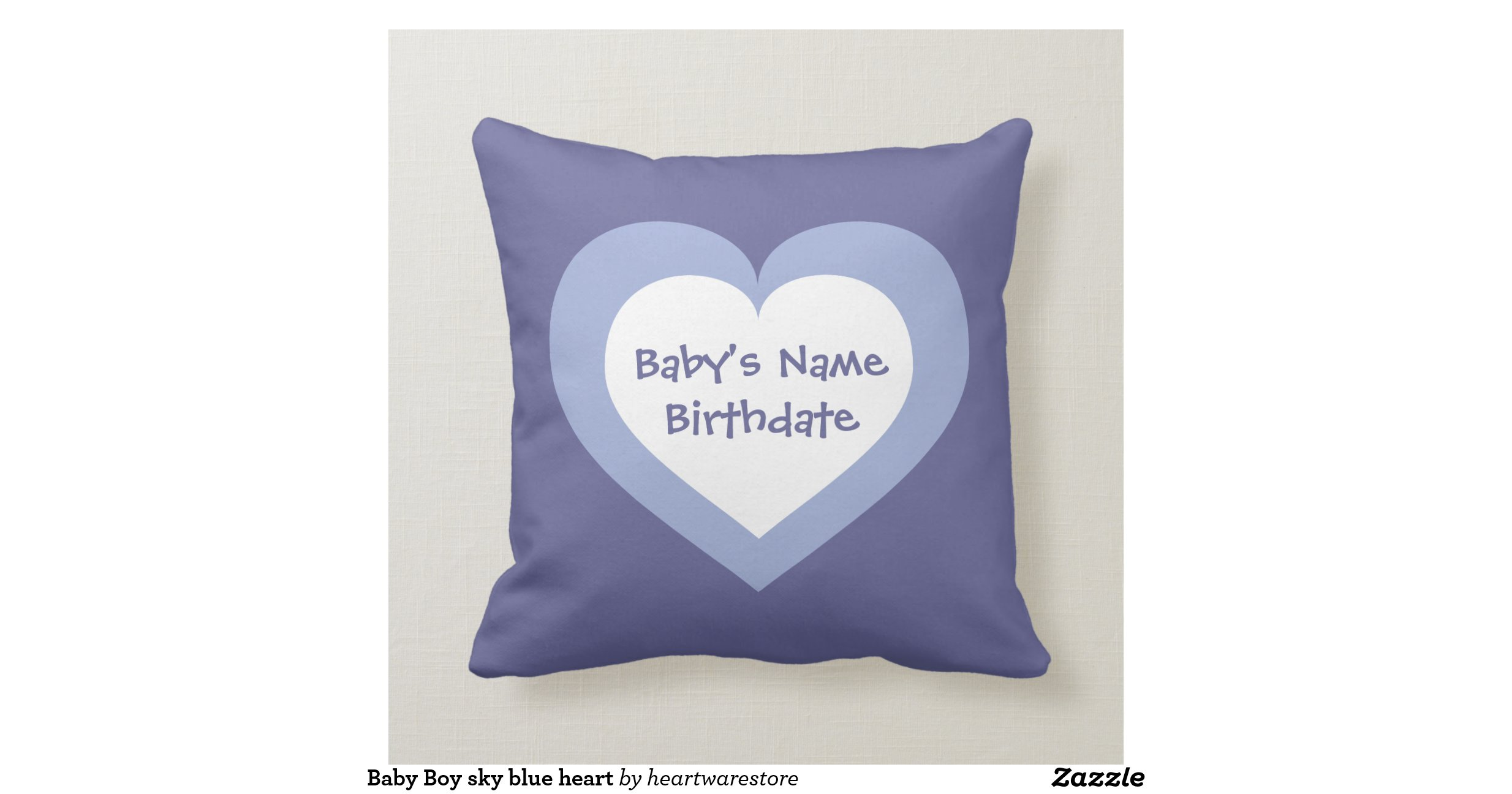 Sky blue heart pattern Baby Boy Throw Pillow Zazzle