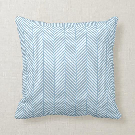 Sky Blue Herringbone Throw Pillow