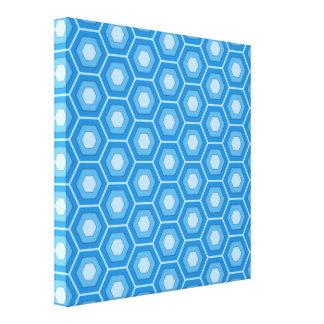 Sky Blue Hex Tiled Canvas
