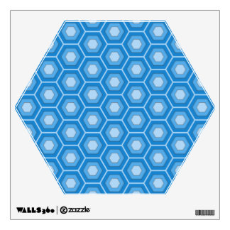 Sky Blue Hex Tiled Wall Decal