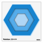 Sky Blue Hex Wall Decal