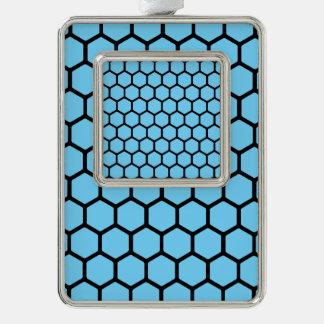 Sky Blue Hexagon 4 Ornament