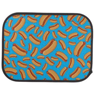 Sky blue hotdogs car mat
