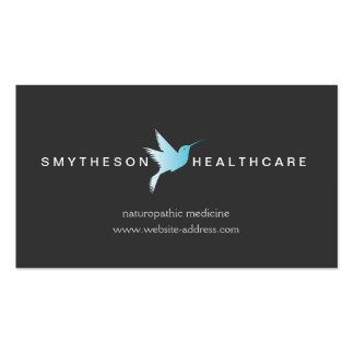 SKY BLUE HUMMINGBIRD LOGO II, Health & Wellness Business Card Templates