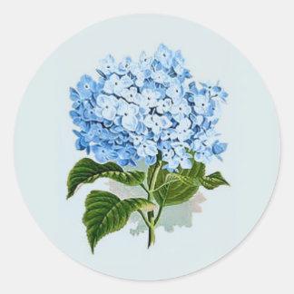 Sky Blue Hydrangea Classic Round Sticker