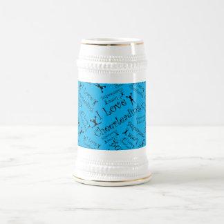 Sky blue I love cheerleading Coffee Mugs