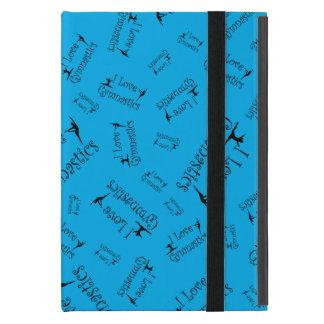 Sky blue I love gymnastics iPad Mini Cover