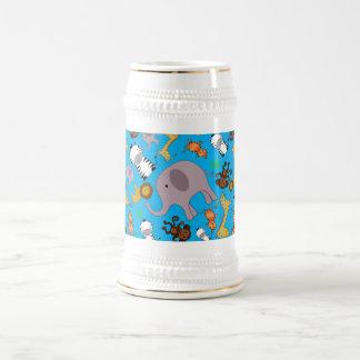 Sky blue jungle safari animals coffee mug