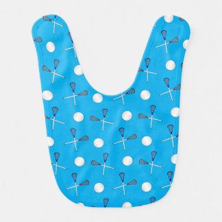 Sky blue lacrosse pattern baby bibs