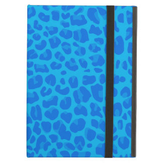 Sky blue leopard print pattern iPad air cover