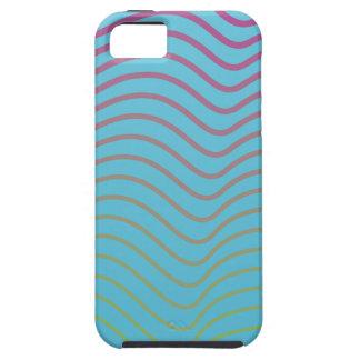 sky blue light lines iphone5 vibe case