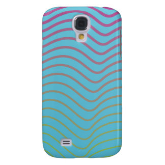 sky blue light lines samsung galaxy4 case