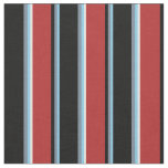 [ Thumbnail: Sky Blue, Light Slate Gray, Black, Red, Mint Cream Fabric ]