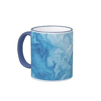 Sky Blue Marble Mug