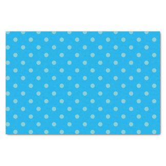 Sky Blue & Medium Blue Polka Dots Tissue Paper