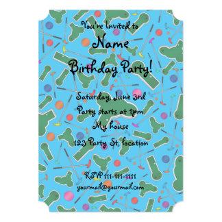 Sky blue mini golf pattern card