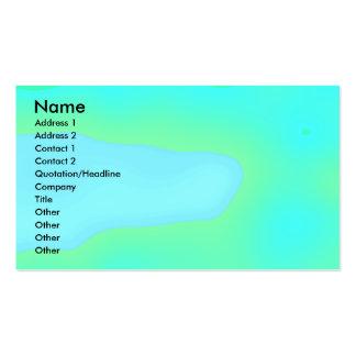 Sky blue - Mint green - business card template