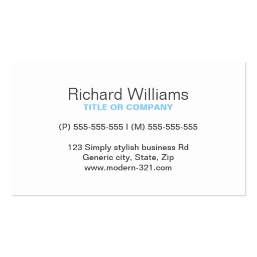 Sky blue modern generic simple elegant personal business card templates
