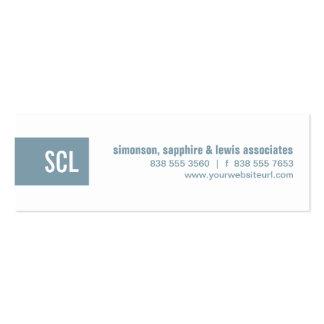 Sky Blue Monogram Strip Business Card Template