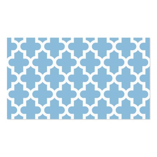 Sky Blue Moroccan Blank Business Card Template