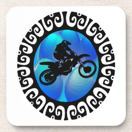 SKY BLUE MOTO DRINK COASTER