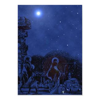 Sky Blue Nativity Invitation