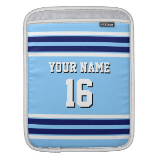 Sky Blue Navy White Team Jersey Sports Jersey Sleeve For iPads