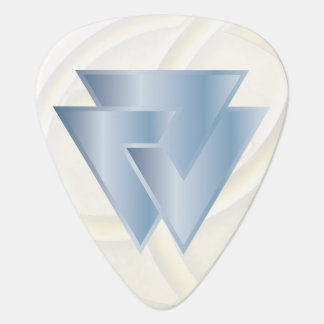 Sky Blue Norse Valknut Symbol - Guitar Pic Guitar Pick