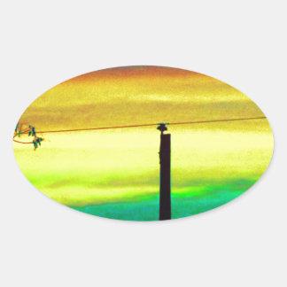 Sky Blue Oval Sticker