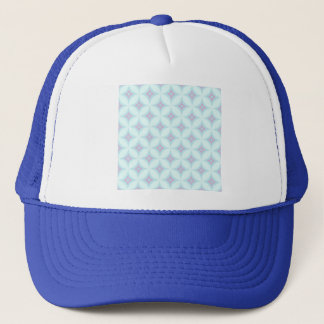 sky blue,pale pink,moroccan,trendy,trellis,diamond trucker hat