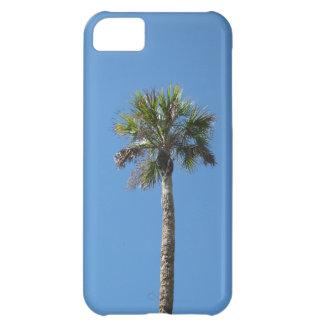 Sky blue palm tree iPhone 5C cases