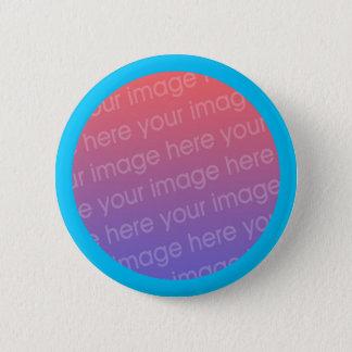 sky blue photo frame pinback button