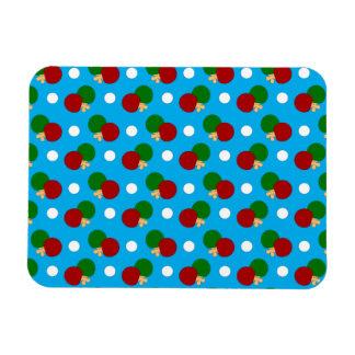 Sky blue ping pong pattern vinyl magnets