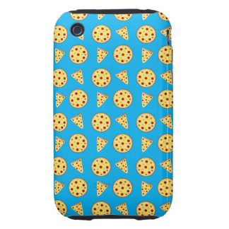 Sky blue pizza pattern iPhone 3 tough cover